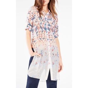 "BCBG ""Taylur"" sheer button down."